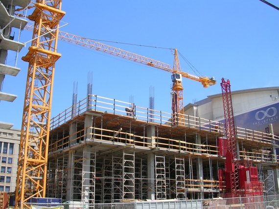 Total construction output declines but new work increases