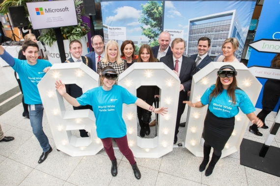 Microsoft announce the creation of 600 new Dublin jobs