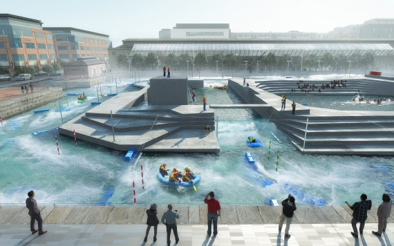 Dublin City Council propose white water rafting facility at the IFSC