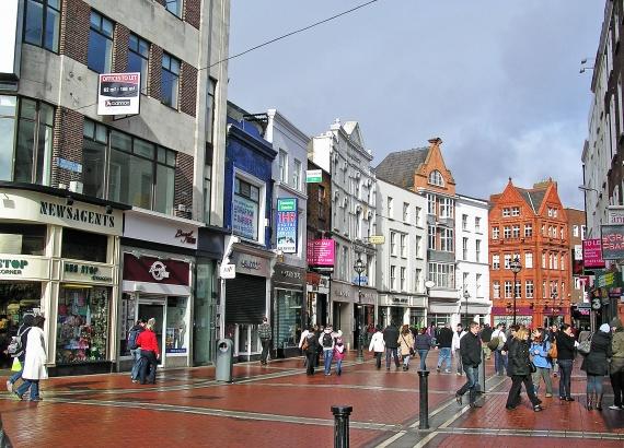 Dublin City Centre footfall plummets by 65.8%
