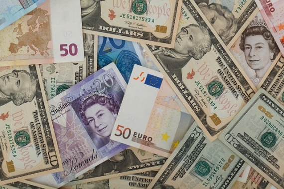 Sterling rises to one-month highs versus dollar, euro